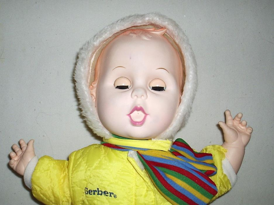 Vintage 1979 Gerber Baby Doll in Original Gerber Outfit Sleeper & Hat