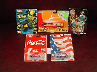 5pc Lot MOC 96-03 Matchbox, Revell, Racing Champions, Marvel, Looney, Olympics