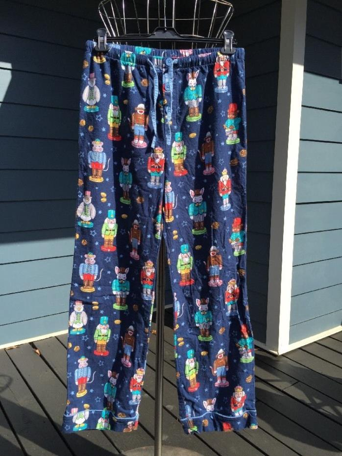 NICK & NORA men's Flannel Nutcracker Pajama Pants M Lounge pj's
