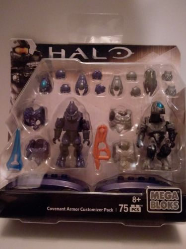 MEGA BLOKS HALO Covenant Armor CUSTOMIZER PACK  75 PCS NEW TOY09