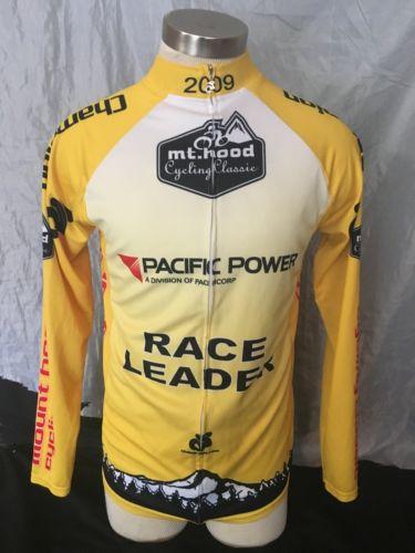 2009 Mt. Hood Cycling Classic Biking Jersey Shirt Long Sleeve Size Large