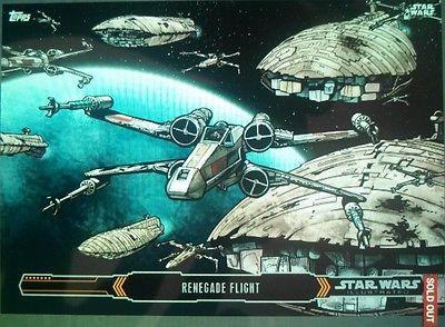 2015 Star Wars Illustrated Empire Strikes Back #1 Renegade Flight Insert