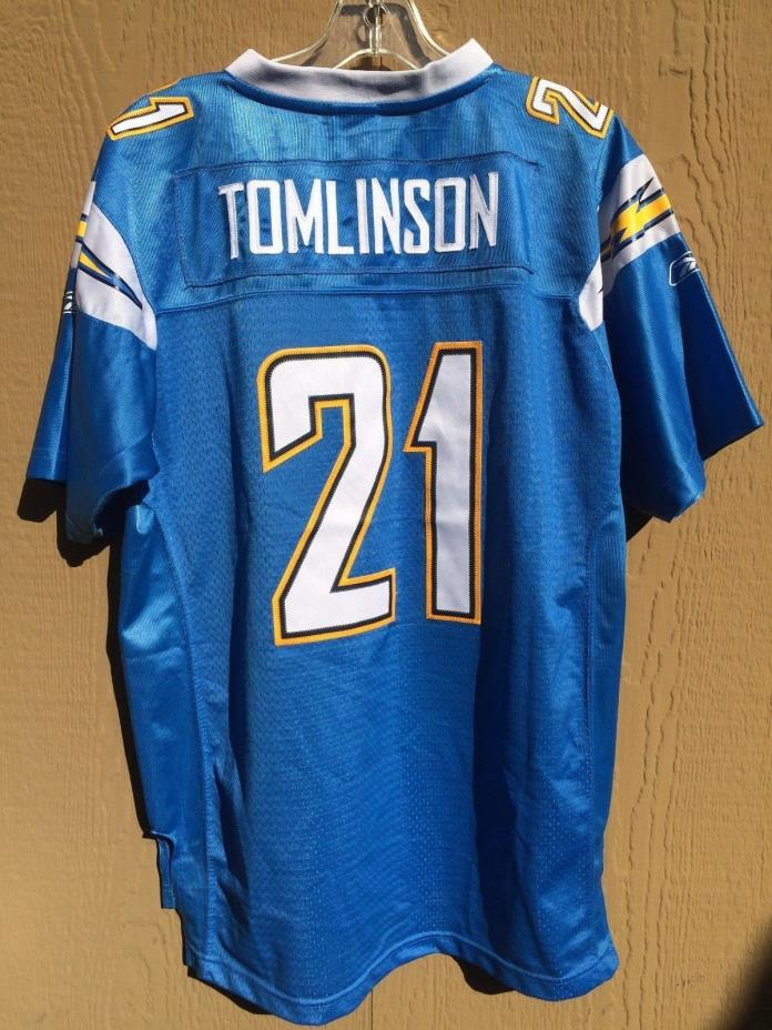NFL JERSEY SAN DIEGO CHARGERS TOMLINSON 21 REEBOK YOUTH XL