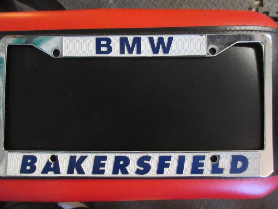 Bakersfield  BMW Metal  License Plate Frame