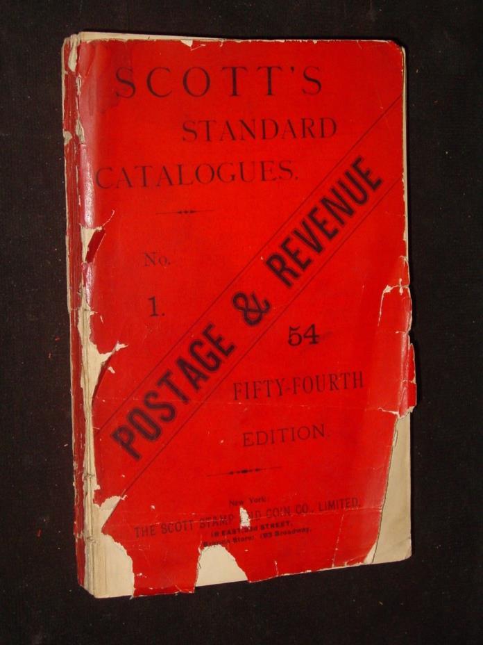 SCOTT'S STANDARD POSTAGE STAMP CATALOGUE 1894