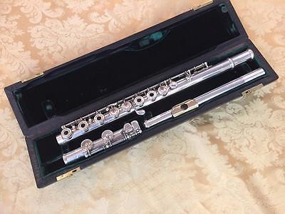 Vintage Verne Q Powell Handmade Flute w/14K Gold Lip Plate and Riser-Superb!