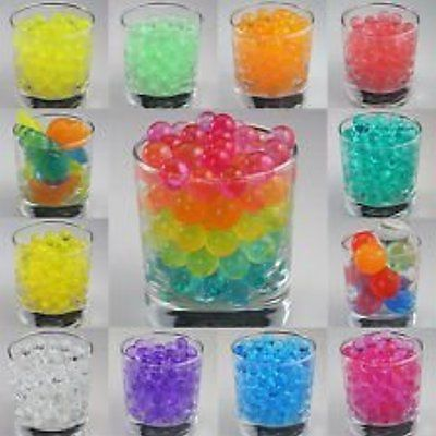 12 Pack Combo Sooper Beads Decoration Vase Filler - Water Beads Gel - 12 Colors