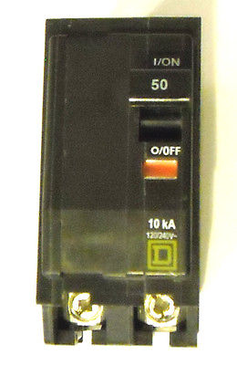 NEW SQUARE D QO250 2-POLE 120/240V 50 AMP CIRCUIT BREAKER