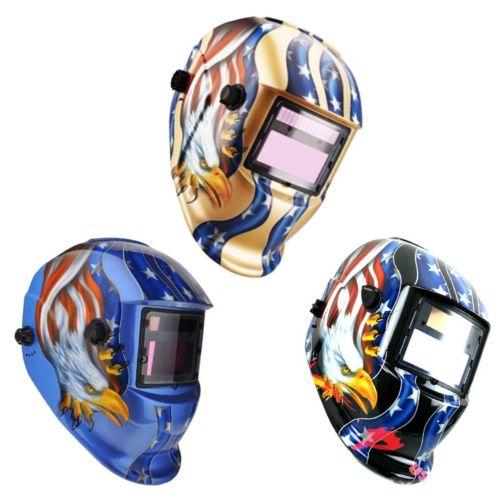 BLUE Solar Welder Hood Auto-Darkening Welding Helmet Arc Tig mig Grinding Mask