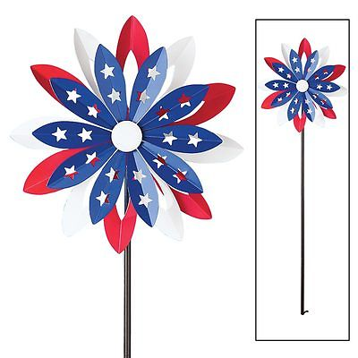 Patriotic Flower Double Spinners