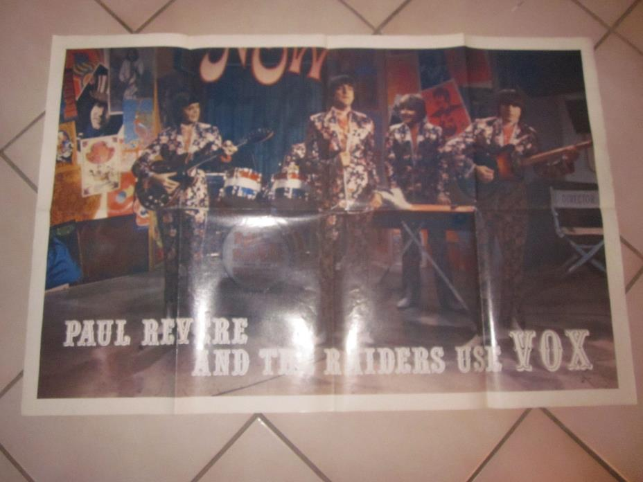 PAUL REVERE AND THE RAIDERS USE VOX GUITAR AND AMPLIFIERS ADVERTISEMENT POSTER