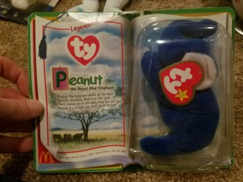 ty beanie babies peanut royal blue ( MINT ) never opened