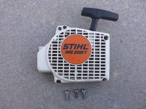 STIHL MS200T chainsaw starter recoil cover