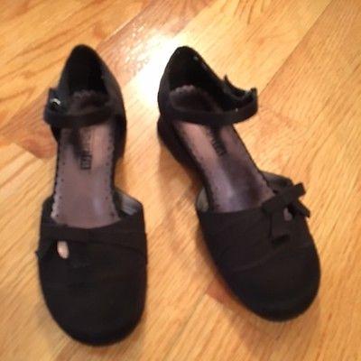 Girl's Black Dress Shoes Size 13 1/2 Holiday/ Wedding/ Dress