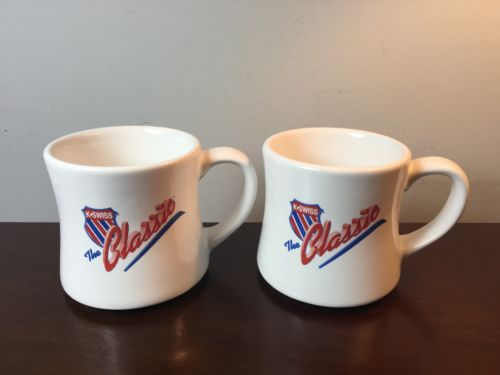Set Of 2 K-Swiss K SWISS CLASSIC SHOES HEAVY USA MADE RARE Coffee MUGS CUPS