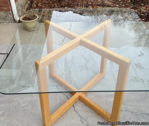 Glass/Oak Table