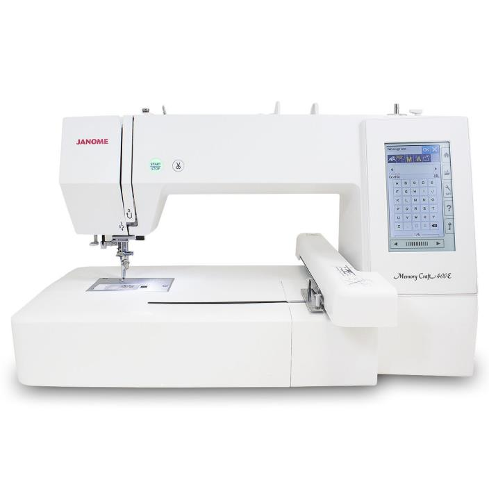 Janome Memory Craft 400E Embroidery Machine with FREE Bonus Kit