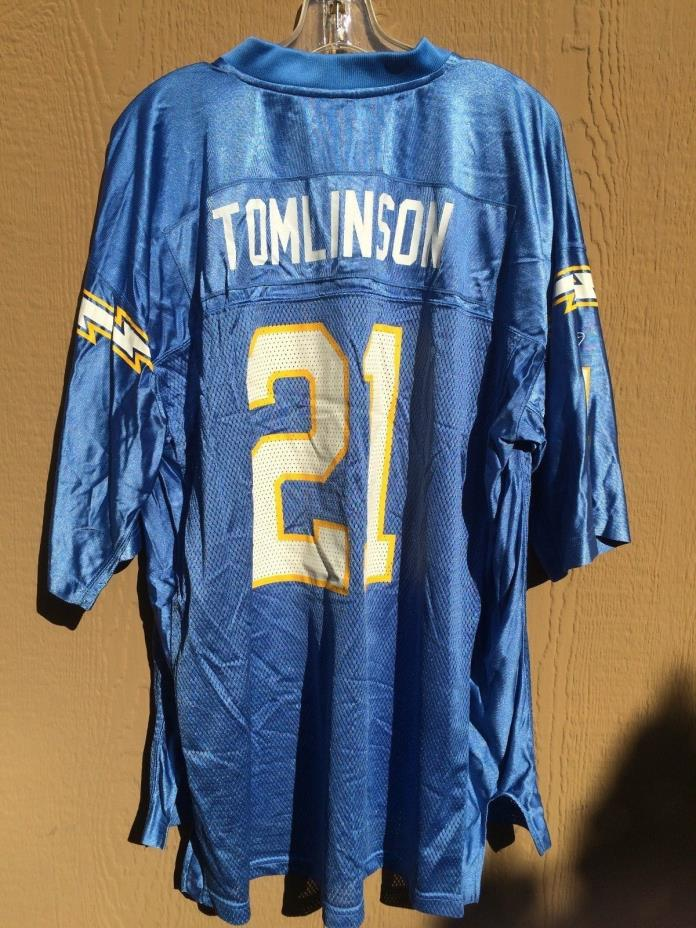 NFL JERSEY SAN DIEGO CHARGERS TOMLINSON 21 REEBOK MENS XL