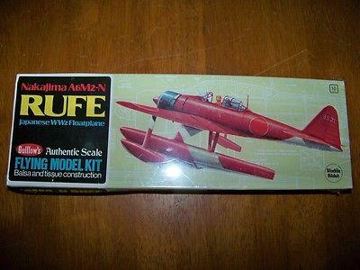 Guillows Nakajima A6M2-N Rufe Japanese WW2 Floatplane Airplane RUFE BALSA KIT