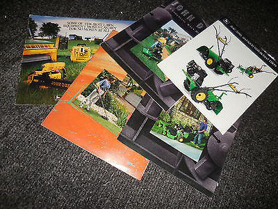 JOHN DEERE LAWN GARDEN MOWERS TILLERS BROCHURE LITERATURE AD LOT OF 5