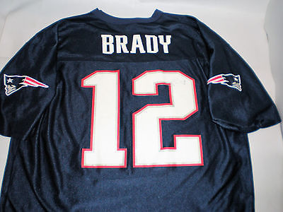 12 New England Patriots Tom Brady Authentic Jersey NFL TEAM APPAREL Mens Size XL