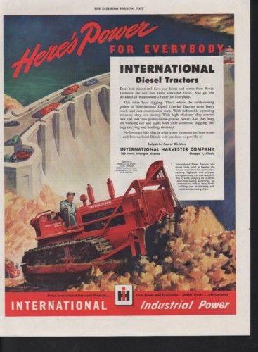 1946 INTERNATIONAL HARVESTER CRAWLER TRACTOR DAM FARM 10285