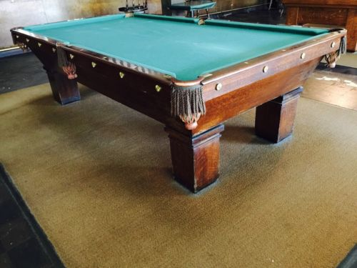 Antique Brunswick Mikado Pool Table