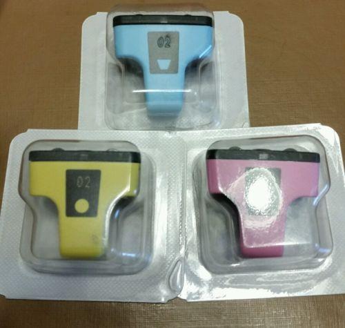 3pk Genuine HP 02 Light Cyan/Light Magenta Yellow  Ink Cartridges Photosmart 311