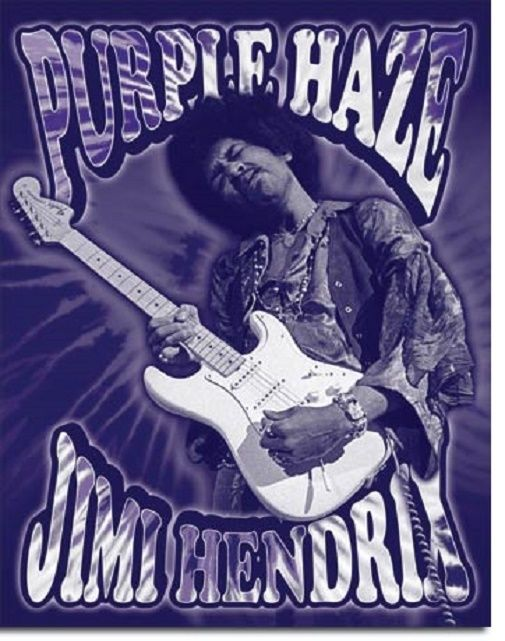 Jimi Hendrix Legend Music Guitar Icon Purple Haze Wall Decor Metal Tin Sign New
