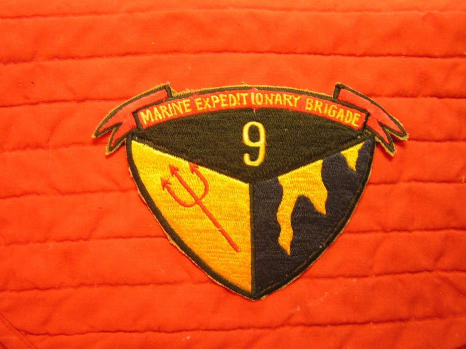 9TH MARINE EXPEDITIONARY  BRIGADE   Vietnam  patch.