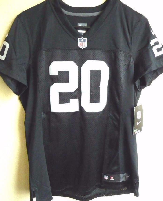 Women's NFL Oakland Raiders Football Darren McFadden #20 Limited Jersey L NEW