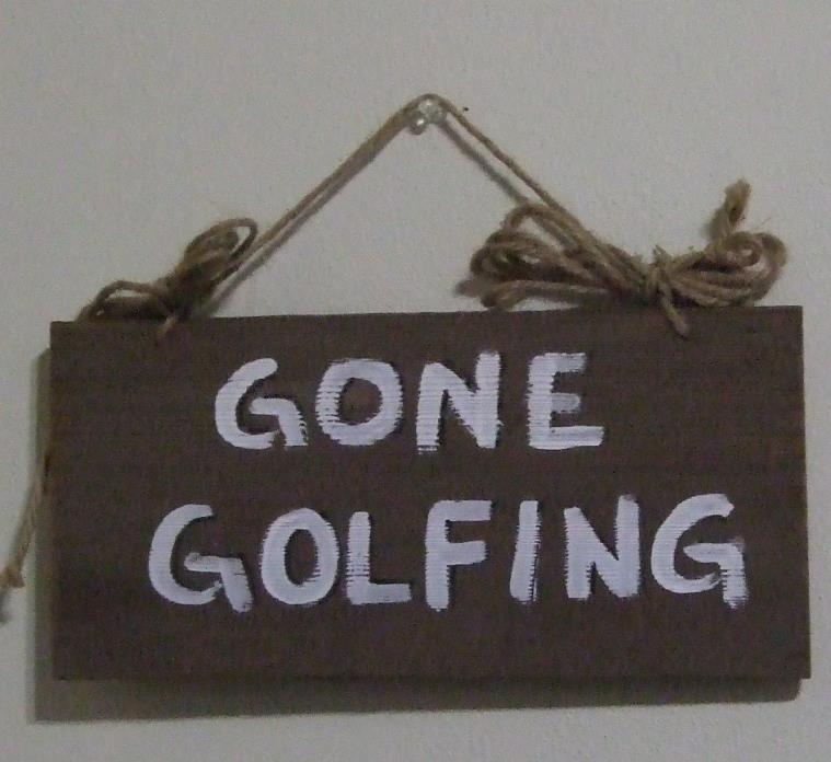 Wood Sign - Gone Golfing