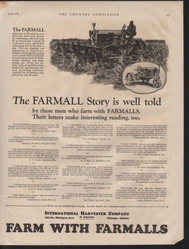 1929 MCCORMICK FARMALL TRACTOR CORN FARMER AGRICULTURE 10450