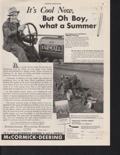 1934 INTERNATIONAL HARVESTER MCCORMICK TRACTOR SUMMER 10326