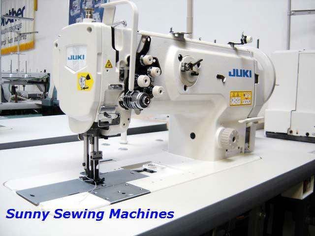 Juki LU-1560N Double Needle Walking Foot Industrial Sewing Machine w/ Servo