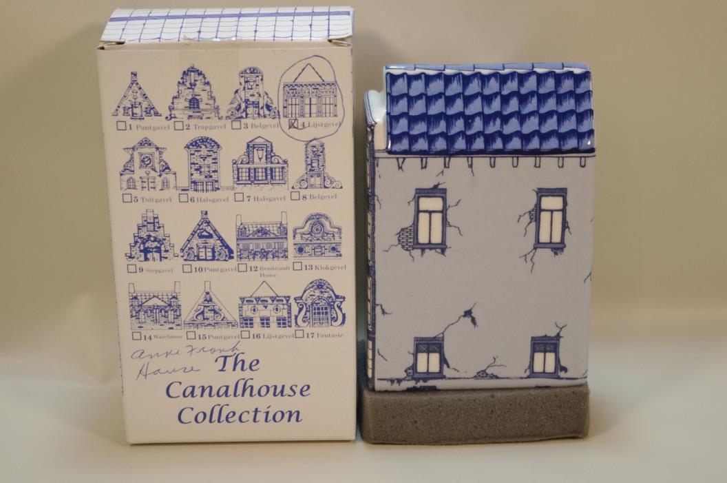 Canalhouse Collection Anne Frank House Delft Blue Porcelain House Holland