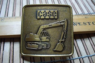 Vintage  CASE EXCAVATOR EARTH MOVER DIRT DIGGER  Belt Buckle HEAVY EQUIPTMENT