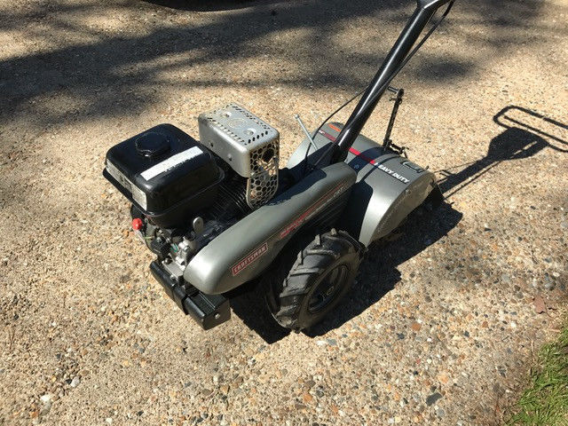 Tiller, 14 Inch Rear Tine Craftsman Self Propelled With Reverse.