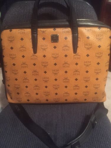MCM Briefcase Classic Print, Large, 100% Authentic