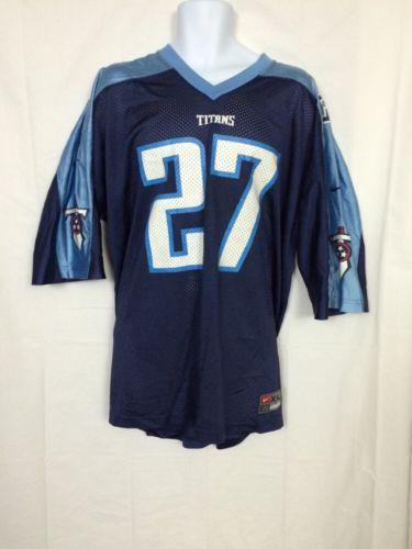 Nike Men's XXL NFL Tennessee Titans NFL  Jersey 27 Eddie George 2XL