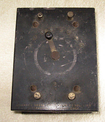 Lionel 106 Transformer - ca 1911  -- Lionel's First Transformer