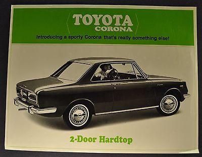 1967 Toyota Corona 2-Door Hardtop Sales Brochure Sheet Nice Original 67