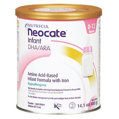 3x SEALED Neocate Infant DHA/ARA 14.1 Oz Hypoallergenic Formula - Expires ~2018