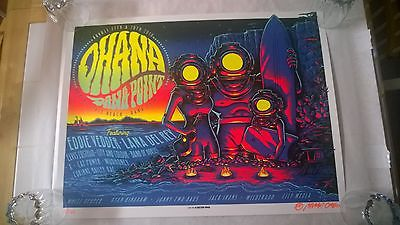2016 Ohana Festival Poster Eddie Vedder, Lana Del Ray Munk One signed & numbered