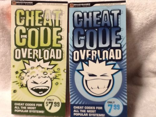 Lot Of 2 brady Games Cheat Codes Overload Summer Winter 2010 EUC