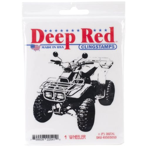 Deep Red Cling Stamp-4 Wheeler