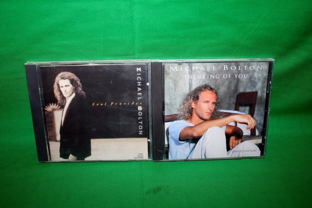 Lot Of 2 Michael Bolton Cd's Thinking Of You/Soul Provider