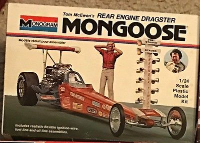 "Monogram Tom ""Mongoose"" McEwen's Rear Engine Dragster Vintage Kit"