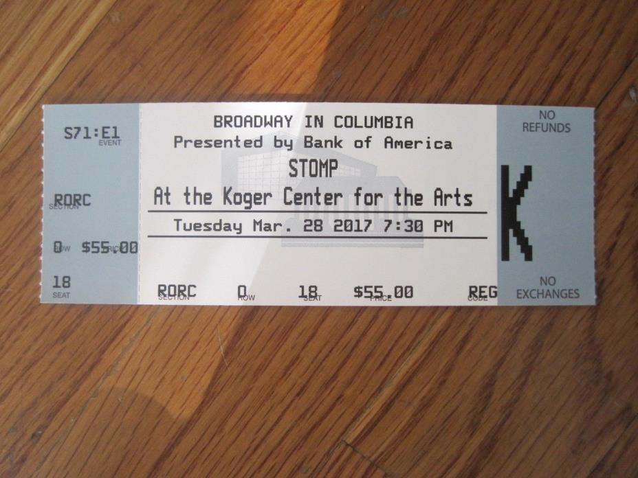 STOMP at the Koger Center for the Arts, Columbia, SC, 3/28/17