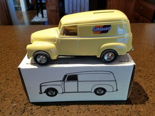ERTL 1950 Chevy Panel Truck Bank Safeguard In Original Box